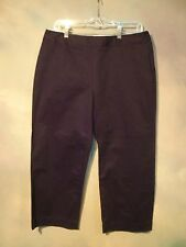 """NEW WITH TAGS LIZ CLAIBORNE """"AUDRA"""" BLACK CROPPED PANTS SIZE 10"""