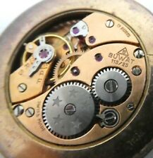 Vintage BUWAT 115 /25  manual wind watch movement 17 jewels for parts  (E90)