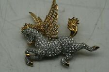 SWAROVSKI CRYSTAL PEGASUS BROOCH FROM 1996-1998 FABULOUS CREATURES  COLLECTION