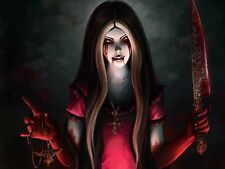 Alice Madness Returns Blood Knife Game Silk Wall Poster 20x15 Inch