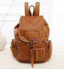 Vintage Women Leather Backpack bags Messenger rucksack laptop bag