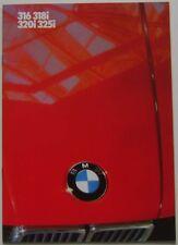 BMW 3 Series 316 318i 320i 325i E30 1985-87 Original UK Sales Brochure 611030721