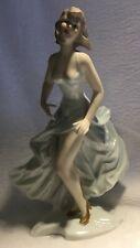 Wallendorf Art deco Dancing girl Porcelain figurine # 1923 Hand made [AH259]