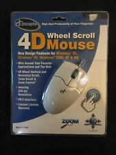 Wheel Scroll Mouse PS/2 Compatible IConcepts Brand New 4D Turbo Scroll Zoom