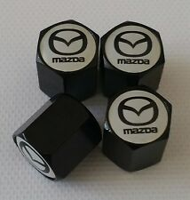 MAZDA Wheel Valve Dust caps BLACK Mazda 2 3 5 6 MX-5 CX-5 CX-3