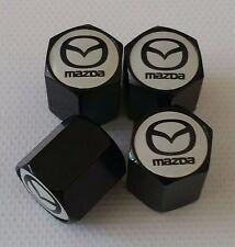 Mazda Rueda Válvula Tapas Polvo Negro Mazda 2 3 5 6 MX-5 CX-5 CX-3