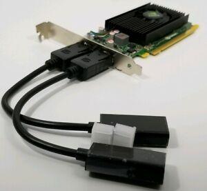 NVIDIA NVS 310 PCIe x16 Dual DisplayPort HDMI Full Height Windows 10 Video Card