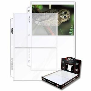 1 Case of (1000) BCW 2-Pocket Photo Pages Size - 5 7/16 x 7 1/8