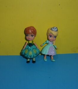 "Disney Princess Mini Toddler Doll Frozen Princess Anna & Elsa 3"" Figures"