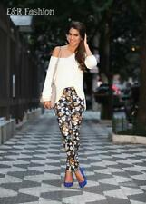ZARA SKINNY FLORAL TROUSERS SIZE SMALL REF: 6085 242