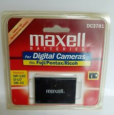 Maxell DC3781 Rechargeable Lithium Ion Digital Camera Battery Fuji Pentax Ricoh