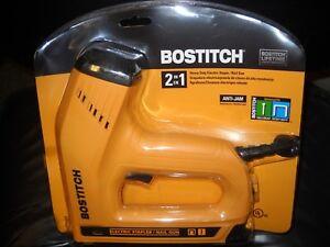 Bostitch BTE550Z Heavy-duty Electric 2-in-1 Staple & Nail Gun NEW