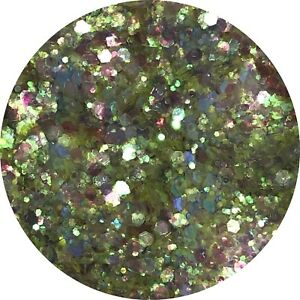 CHUNKY LIVELY GREEN GLITTER Nail Art Body & Wine Glass PICK YOUR BAG SIZE