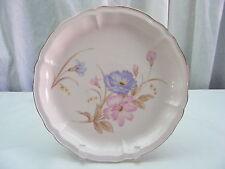 Vintage Decorative Plate Japan Flowers Purple Pink Gold Edge Home Decor
