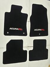 Fits 09-14 Acura Tl Black Floor Mats Carpets 4Pc W/Emblem