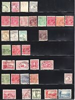 AUSTRALIA 2 STOCK PAGES COLLECTION LOT 75 STAMPS ROOS GEO V COMMEMORATIVES