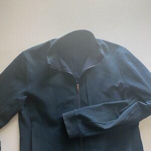 Lululemon Mens Large Green/Turquoise Full Zip Recent Jacket Short Fit Chest Zip