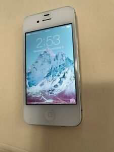 EXCELLENT CONDITION WORKING APPLE i-PHONE 4 - 6GB - WHITE (VERIZON) A1349 (GSM)