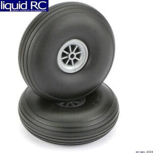DU-BRO 350T Treaded Wheels 3-1/2 Inch (2)