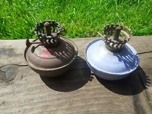 2 x WW2 Home Front Anderson Shelter Kelly Lamp Bases