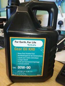 GENUINE KUBOTA GEAR OIL KHD Oil 5 LITRE SAE 80W-90 FREE FAST FEDEX DELIVERY