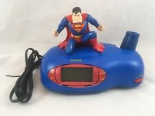 DISCONTINUED SUPERMAN PROJECTION ALARM CLOCK WORKS FREE SHIPPING