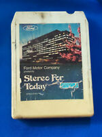 1976 Ford Car Advertising Dealership 8 Track Tape Stereo For Today VTG