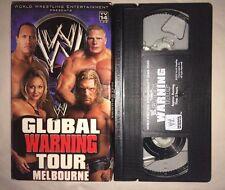 WWE - Global Warning Tour Melbourne Australia (VHS, 2002) WWF WCW NWO NON RENTAL