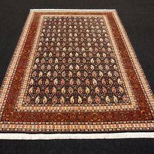 Orient Teppich Dunkelblau 246 x 171 cm Hereke Termeh Muster Turkish Carpet Rug