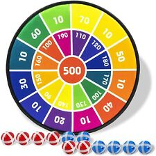 New listing Board Games for Kids, Dart Board for Kids withSticky Balls, Darts Board Set