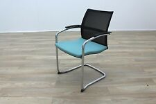 Sedus UP 233 Black Mesh Back Teal Seat Office Meeting Chairs