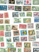Jamaica   50 plus mix collection used  stamps