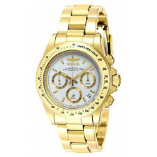 Invicta 7030 Men's Signature Speedway Gold Steel Chrono Watch