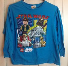 Lego Star Wars Long Sleeve Shirt Large Blue 5 Characters and Falcon