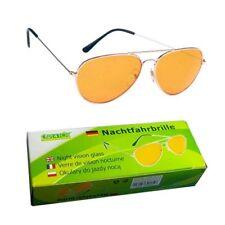 Nachtfahrbrille Autofahrerbrille Nachtsichtbrille gelb Night Vision Glass KFZ