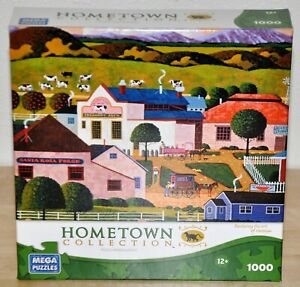 """1000 Piece Heronim Jigsaw Puzzle """"Harmony"""" Hometown Collection - Excellent shape"""