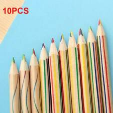 10Pcs Rainbow Color Pencil 4 in1 Colored Drawing Painting Pencils Set 17.5*0.3cm