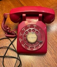 Vintage At&T Red Rotary Dial Telephone - aka Hotline - Bat Phone