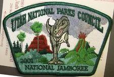 UTAH NATIONAL PARKS COUNCIL 508 OA 2001 JAMBOREE TYRANOSAURUS DINOSAUR JSP PATCH