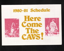 Cleveland Cavaliers--1980-81 Pocket Schedule--Stouffer's Inn