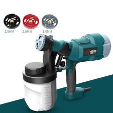 220V Electric Spray Gun Paint Sprayer Spraying Machine w/ 1/2/2.5mm Nozzles 500W