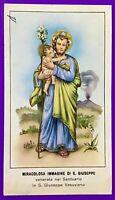 SANTINO HOLY CARD, MIRACOLOSA IMMAGINE DI SAN GIUSEPPE -RIF. 7054