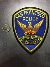San Francisco California Police Department Patch Ca