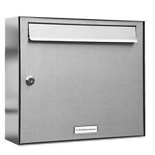1er Premium V2A Edelstahl Briefkasten Anlage 1 Fach A4 Wandmontage A4 Postkasten