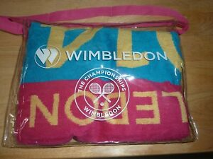 THE ALL ENGLAND LAWN TENNIS CLUB GENUINE LADIES WIMBLEDON TOWEL FROM 2014 NEW!!!