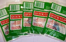 Quick Clip Mantles Fits Coleman Stansport Propane Lanterns & other 5 pk 10 total