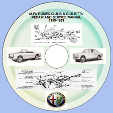 ALFA ROMEO SPIDER, GIULIA & GIULIETTA  REPAIR AND SERVICE MANUAL 1959-1969