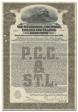 Pittsburgh, Cincinnati, Chicago and St. Louis Railroad Company Bond Certificate