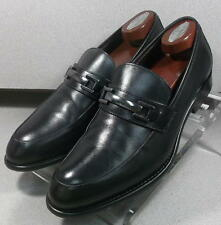 241431 PFi60 Men's Shoes Size 9 M Black Leather Made in Italy Johnston Murphy