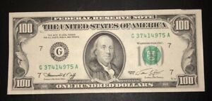 1974 G $100 Dollar New York Federal Reserve Note Bill CRISP About UNCIRCULATED